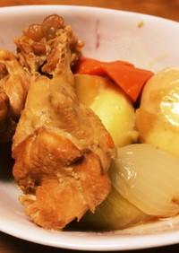 鶏手羽元と根菜の黒酢deさっぱり煮