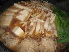 ごぼう団子鍋(すき焼き風)