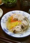我が家の減塩 鶏肉団子と春雨のスープ