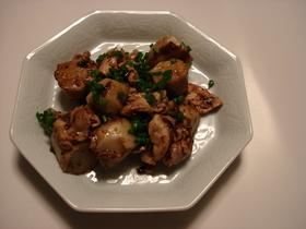 豚肉と里芋のトウチジャン炒め