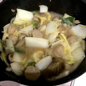 白菜と肉団子のあんかけ風