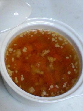 トマトと豚挽き肉のスープ