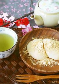 切り餅で簡単柔らか~ぃ♥ミルクきな粉もち