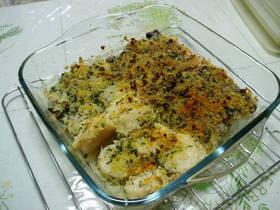 簡単、美味しい☆魚貝の香草パン粉焼き