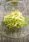 水菜と中華クラゲのサラダ