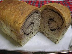 W黒ごまロール食パン