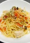 低カロリー♪ささみトマトのペペロンチーノ
