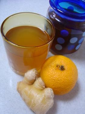 ☆ 黒酢で生姜&柚子のサワードリンク