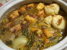 丸ごとカブラと白菜を使った絶品カレー鍋