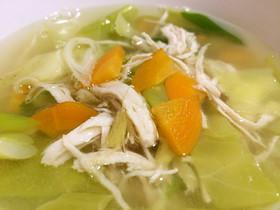 鶏のささみスープ