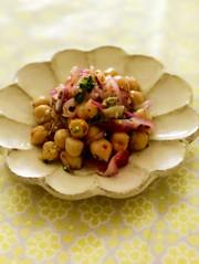 デリ風ひよこ豆のマリネの写真