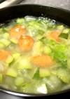 コジェットレタスあらびきソーセージスープ