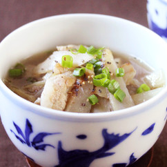 豚肉とごぼうのジンジャースープ