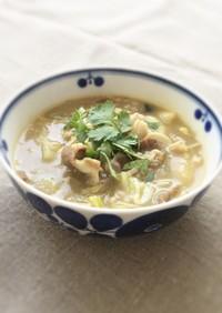 ラム肉の具だくさんスープ(火鍋風)