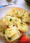 ハーブ香❀蒸し芋×スライス林檎のトースト