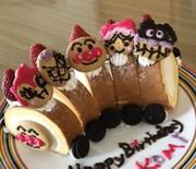 アンパンマン☆簡単! 電車ケーキの写真