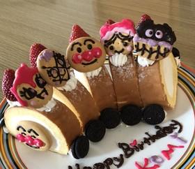 アンパンマン☆簡単! 電車ケーキ