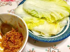 白菜の甘辛味噌くるくる巻き 簡単大量消費