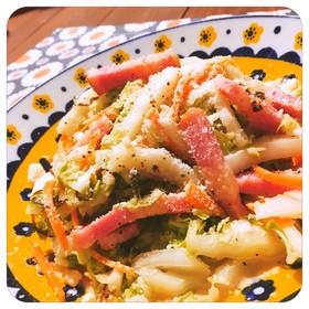 白菜と塩昆布のシーザーサラダ