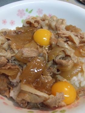豚丼 麺つゆ 隠し味に蜂蜜入れたよ。