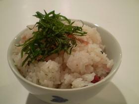 ほんのりピンク★梅干炊き込みご飯