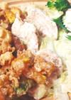 鶏焼しゃぶサラダと豚・野菜のかき揚