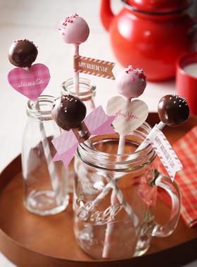 バレンタインに♪簡単ケーキポップ