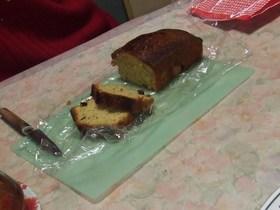 紅茶風味のフルーツパウンドケーキ