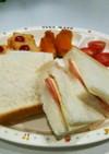 幼児食にも☆ハムチーズのポケットサンド