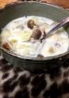簡単!朝のほっこり豆乳スープ(2人分位)