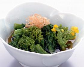 菜の花のおひたしぽん酢仕立て