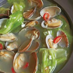 ペペロンチーノ風あさりスープ