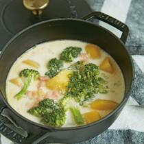 明太クリームスープ