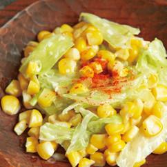 とうもろこしとキャベツのコールスロー風サラダ