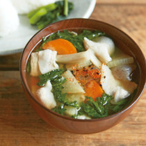 春菊の豚汁スープ
