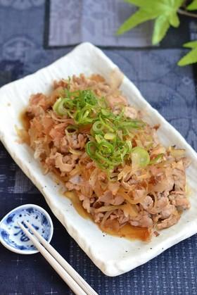 豚こま切れ肉と玉ねぎの甘辛炒め【作り置き