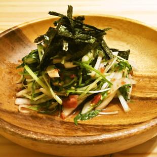 水菜と大根の梅サラダ