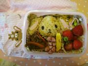 キャラ弁☆シュガーバニーズのおにぎり弁当の写真