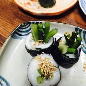 お餅の♡野沢菜漬け海苔巻き♡
