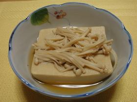 高野豆腐とエノキの簡単煮(^・^)