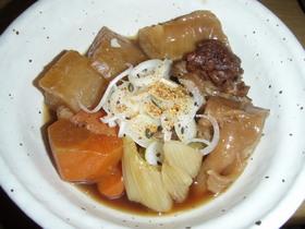 普通のお鍋で☆牛すじ煮込み(醤油味)