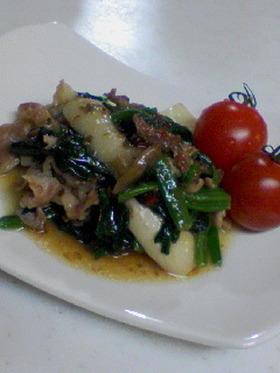 豚肉とエリンギ炒め物