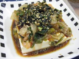 簡単おいしい キムチ豆腐