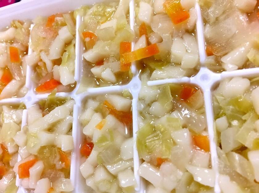 7ヶ月離乳食★キャベツうどん【冷凍保存】