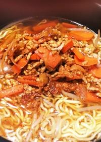 ハバネロパウダーで野菜炒めラーメン
