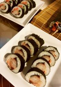 しめ鯖で博多巻風 巻き寿司
