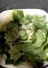 レタスときゅうりとカニのマヨネーズサラダ