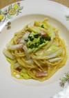 ベーコンと白菜のワンポットパスタ