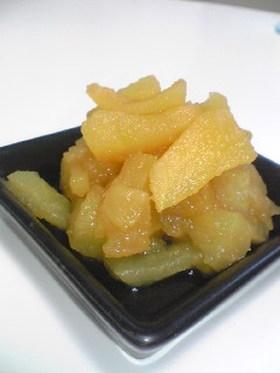レンジ林檎だけヘルシーりんご煮(^ω^)