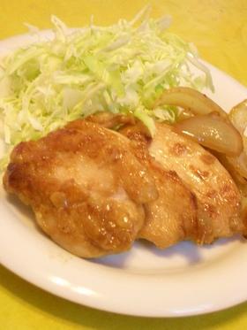鶏むね肉のやわらかガーリックステーキ